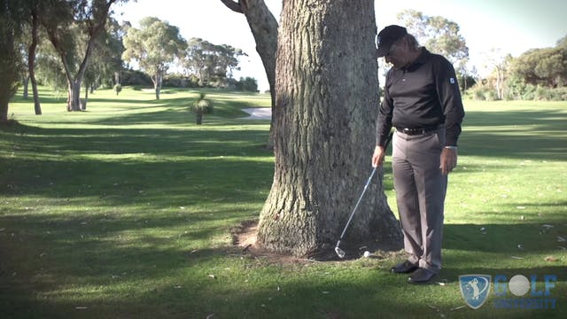 How To Hit When Up Against a Tree