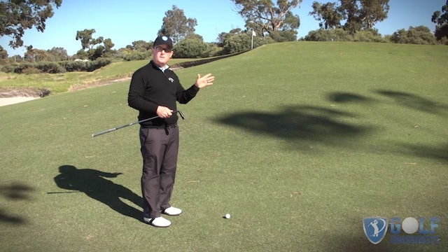 How To Pitch From An Uphill lie