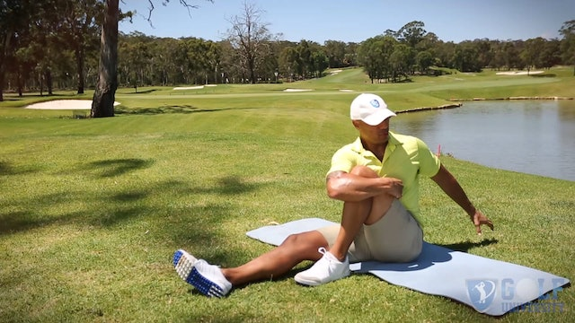 The Seated Twist Stretch for Glutes and Lower Back Stretch for Golf