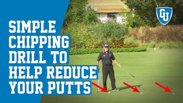 Great Chipping Drill to Help You Sink...