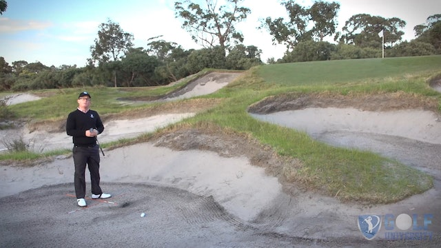 The Importance of Turning not Tilting when playing a Bunker Shot