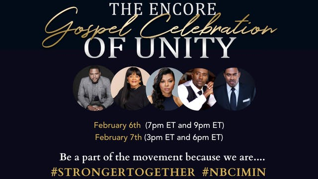 2021 Encore Gospel Celebration of UNITY