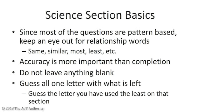 ACT Science Section Introduction