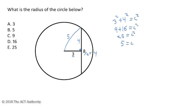 ACT Math - Finding a radius