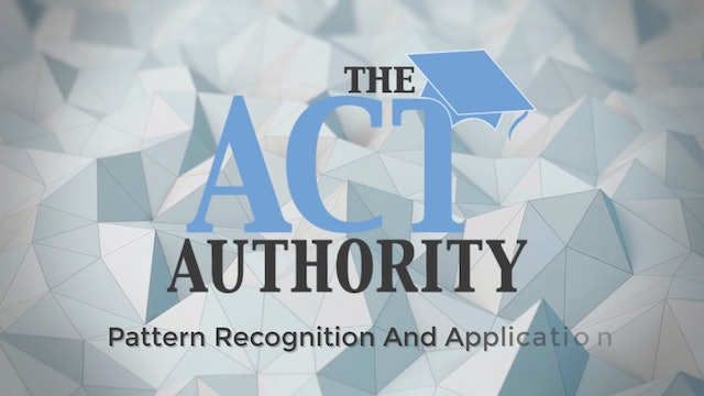 ACT Science - Pattern Recognition And Application