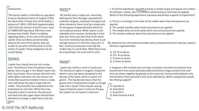 ACT Science - Conflicting Viewpoints Passage