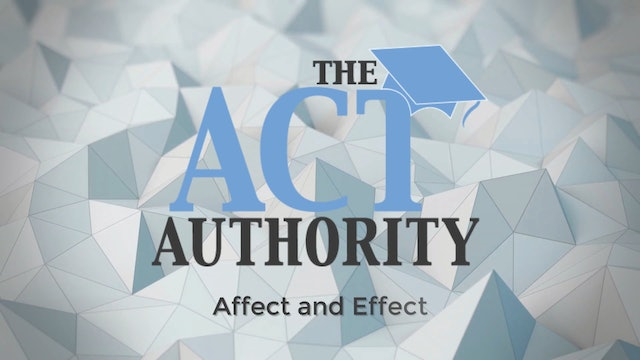 ACT English-Affect-Effect