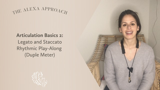 Articulation Basics 2: Legato and Staccato Rhythmic Play-Along (Duple Meter)