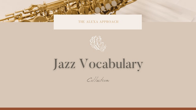 Jazz Vocabulary