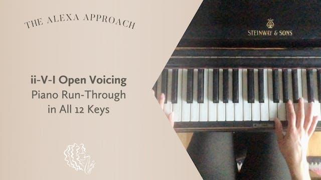 ii-V-I Open Voicing Piano Run-Through...