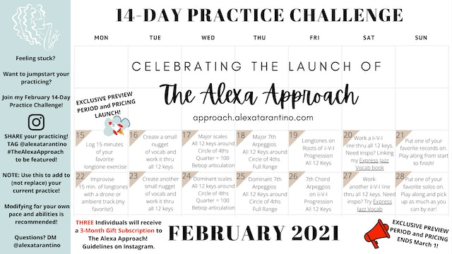 14-Day Practice Challenge Day 0 Info and Description