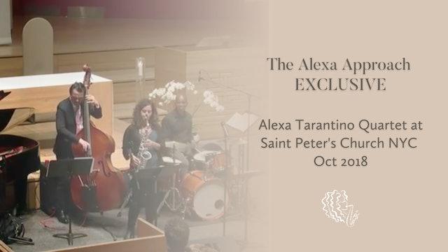 EXCLUSIVE: Alexa Tarantino Quartet at Saint Peter's Church NYC / Oct 2018