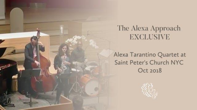 EXCLUSIVE: Alexa Tarantino Quartet at...