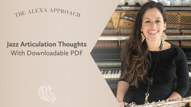 Alexa's Articulation Thoughts with PDF