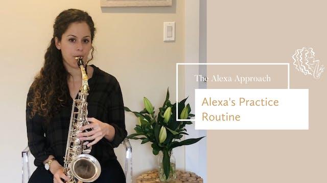 Alexa's Practice Routine