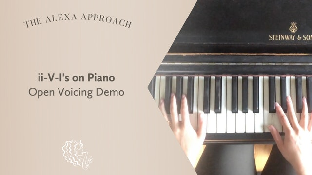 ii-V-Is on Piano: Open Voicing Demo