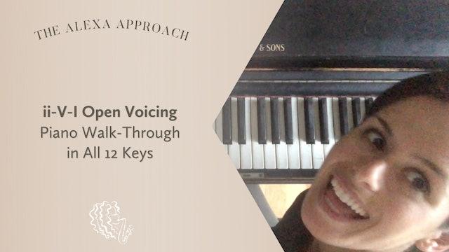 ii-V-I Open Voicing Piano Walk-Through in All 12 Keys