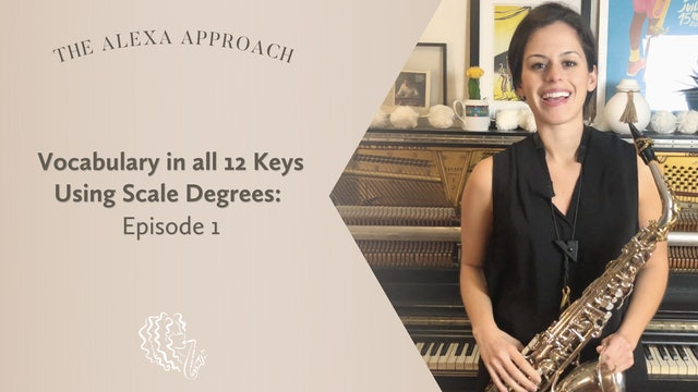 Vocabulary in All 12 Keys Using Scale Degrees: Episode 1