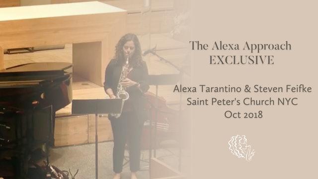 EXCLUSIVE: Alexa Tarantino & Steven Feifke / Saint Peter's Church NYC / Oct 2018