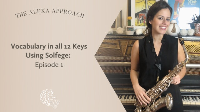 Vocabulary in All 12 Keys Using Solfege: Episode 1
