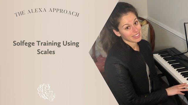 Solfege Training Using Scales