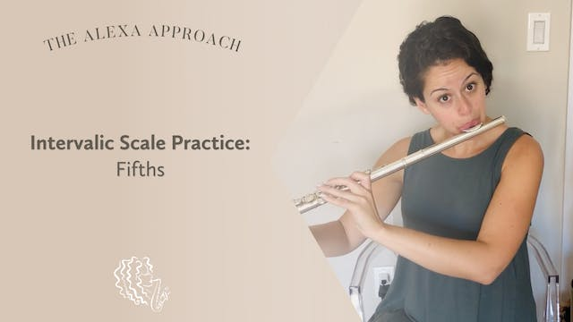 Intervalic Scale Practice in Fifths