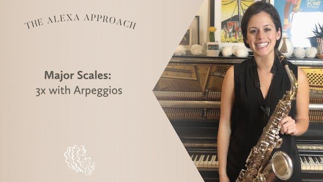 Major Scales 3X with Arpeggio