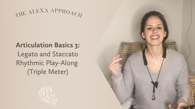 Articulation Basics 3: Legato and Staccato Rhythmic Play-Along (Triple Meter)