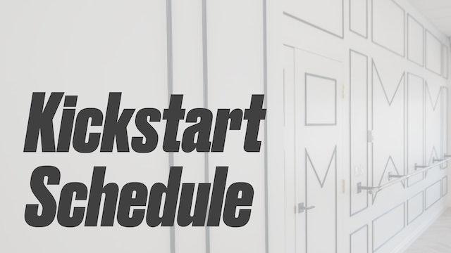 14 Day Kickstart Schedule