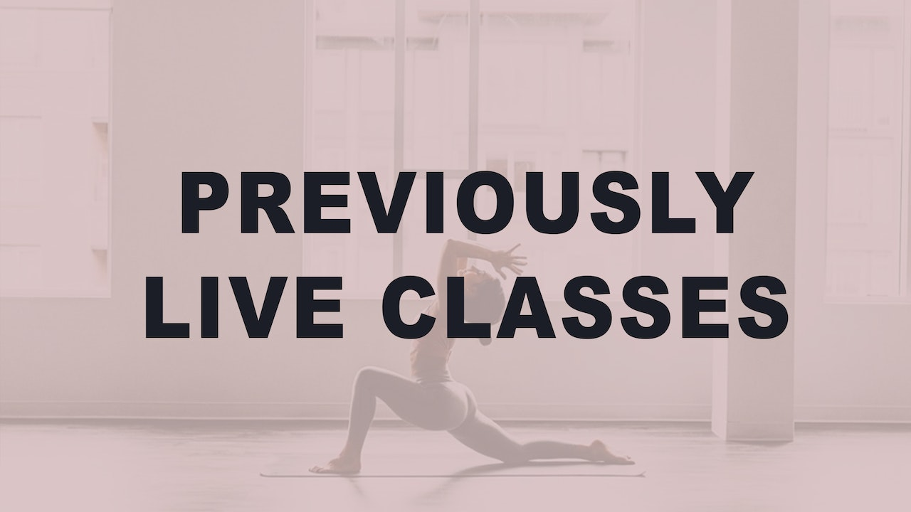 Previously Live Classes