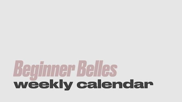 Calendar | Beginner Belles