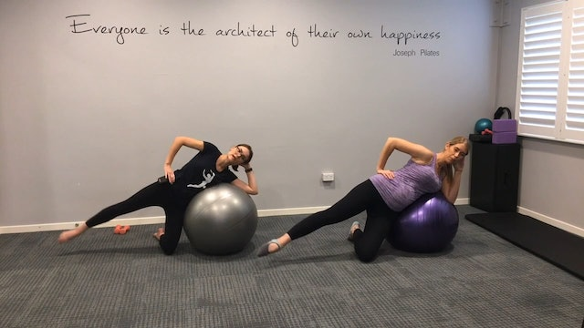 Prenatal Workout with a Swiss ball