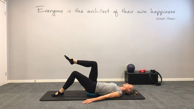 Workout with a Pilates ball
