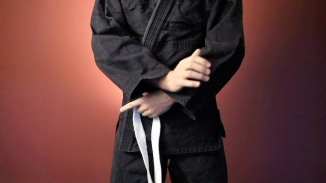 White Belt: Tying Your Belt