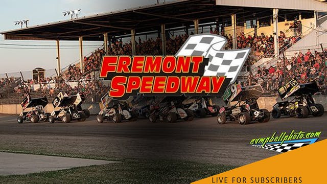 VOD | 410 Sprint Cars @ Fremont Speed...