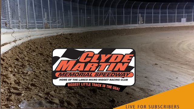 LIVE | Micro Sprints @ Clyde Martin S...
