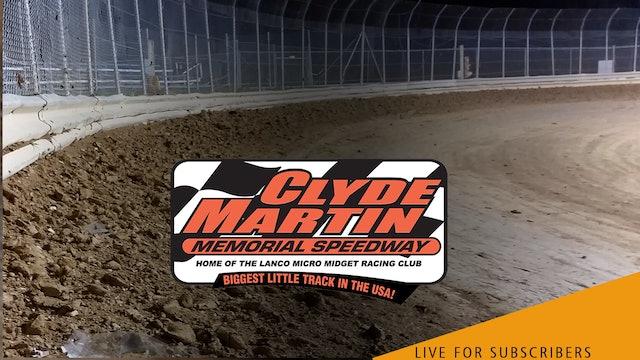 LIVE 9/18   Micro Sprints @ Clyde Martin Speedway (Lanco)