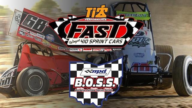 VOD | FAST & BOSS Sprint Car Series @ Fremont Speedway Aug 14, 2021