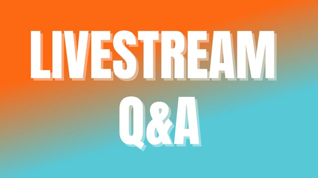 October 2021 Week 1 Livestream