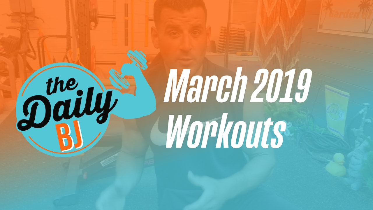March 2019 Workouts