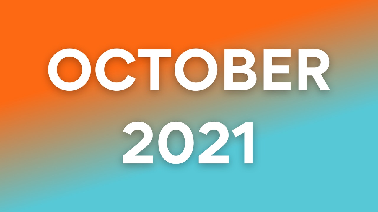 October 2021 Programming