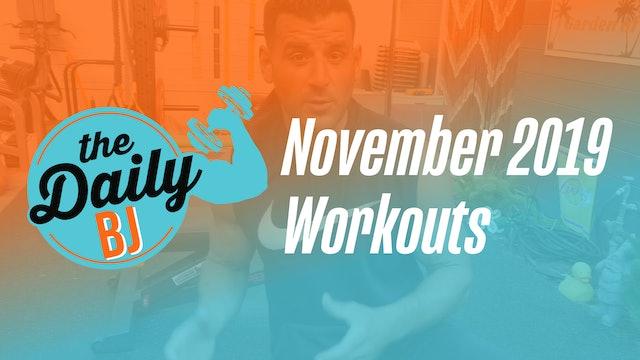November 2019 Workouts