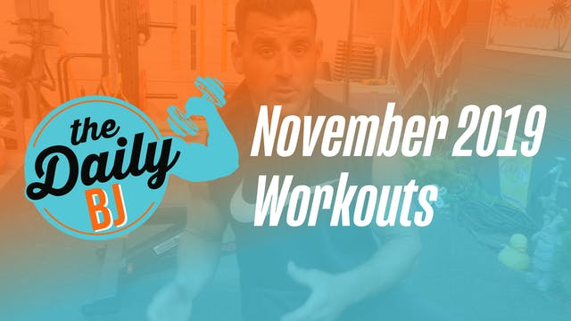November 2019 Workouts