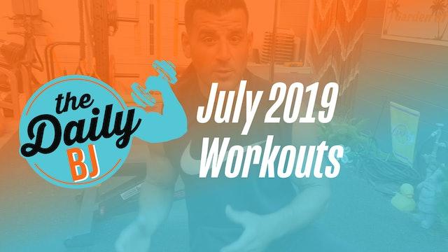 July 2019 Workouts