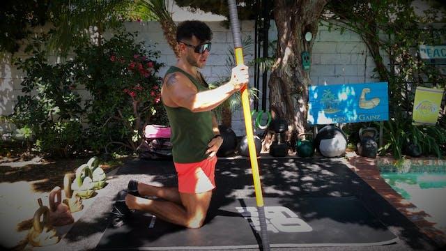 Split-Kneeling Hip Mobility Complex