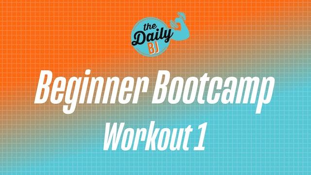 Monday: Workout 1