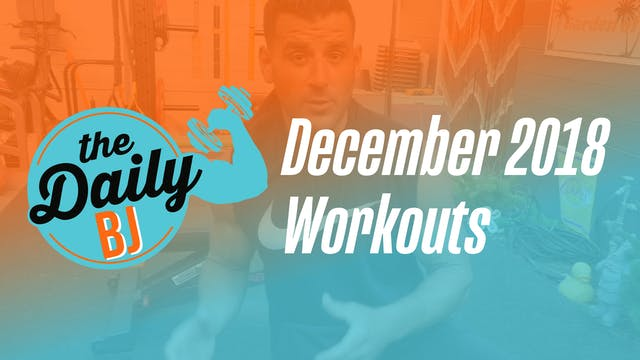 December 2018 Workouts
