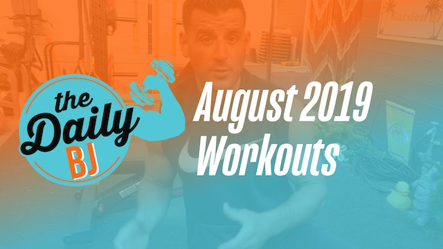 August 2019 Workouts