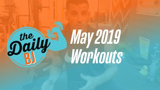 May 2019 Workouts
