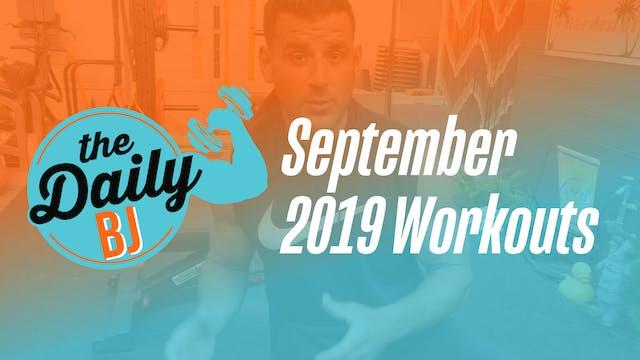 September 2019 Workouts